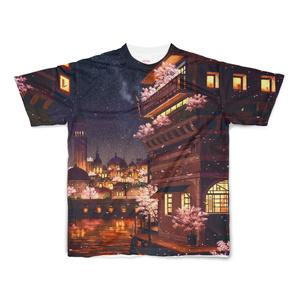 フルグラフィックTシャツ 水の都の夜の街