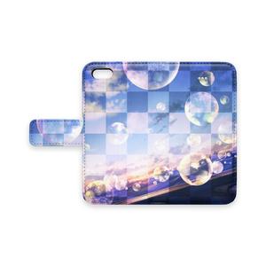手帳型iphoneケース サンシャインバブルドリーム