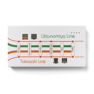 【路線図シリーズ:宇都宮線&高崎線】モバイルバッテリー