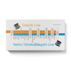 【路線図シリーズ:東海道本線&京浜東北線】モバイルバッテリー
