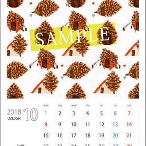 2018年10月分 Chu-coolカレンダー3種セット(おまけのパターンペーパー付き)