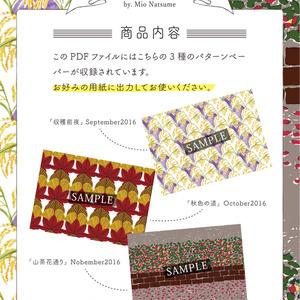 【autumn Aタイプ】Chu-cool パターンペーパー