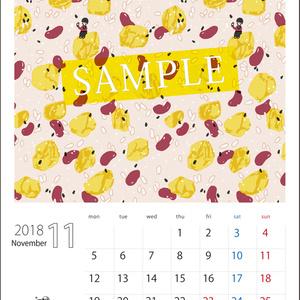 2018年11月分 Chu-coolカレンダー3種セット(おまけのパターンペーパー付き)
