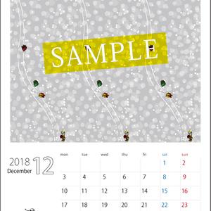 2018年12月分 Chu-coolカレンダー3種セット(おまけのパターンペーパー付き)