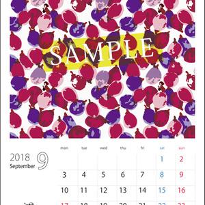 2018年9月分 Chu-coolカレンダー3種セット(おまけのパターンペーパー付き)