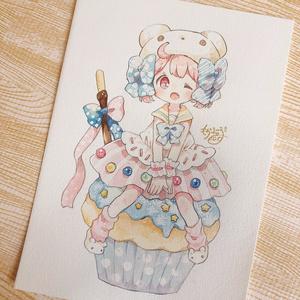【原画】くまのカップケーキちゃん