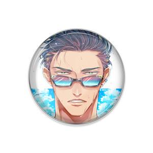 『夏眼鏡男子』ピンバッジ
