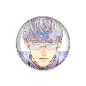 『冬眼鏡男子』ピンバッジ