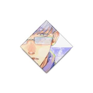『冬眼鏡男子』缶バッジ(ひし形)