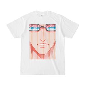 『夏眼鏡男子』白Tシャツ(B)ストライプ