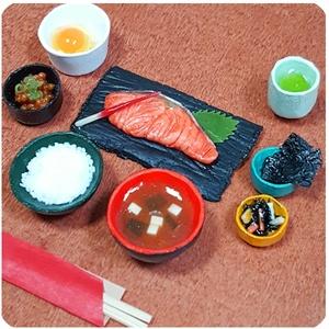 焼鮭朝食セット【1/6スケール ミニチュアフード】