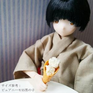 【在庫限り完売】アイスクリーム(バニラ、チョコミント)【1/6スケール ミニチュアフード】