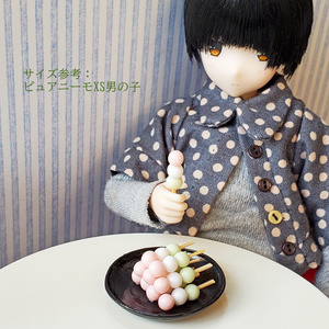 【1/6スケール】山盛り三色団子(ミニチュアフード)
