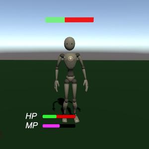 プレイヤーに追従するヘルスバーとか諸々【VRChatワールド用】