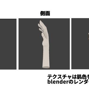 手の3dモデル