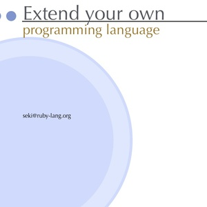 Extend your own programming language (Ver.RK18) PDF & Keynote文書