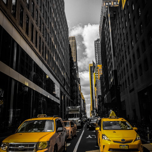 iPhoneケース 背面タイプ BF Taxi ver.2 Black