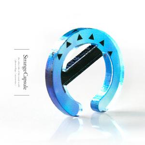 【circle_blue】イヤカフ│アクリルアクセサリー││ストリート│ユニーク│メンズ│個性的│