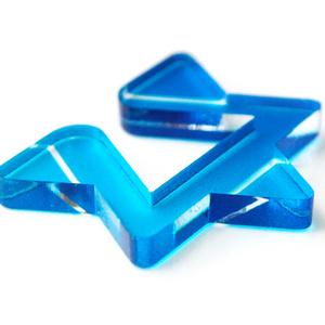 【W△/blue】イヤカフ│アクリルアクセサリー│││ユニーク│個性的│メンズ│かっこいい│星