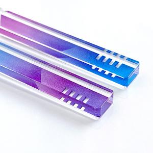【hourglass/purple】ピアス・イヤリング|アクリルアクセサリー|||モード系|ユニーク|個性的|ストリート系|メンズ|スティック|揺れる|紫|スタイリッシュ