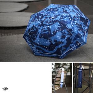 北半球星図の折り畳み傘 / Folding umbrella of Northern Hemisphere constellation