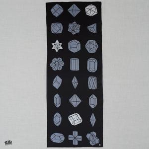 結晶形態図てぬぐい / Crystal Morphology Teunugui