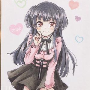 黛冬優子 手描きミニ色紙