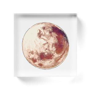 月アクリルブロック
