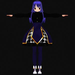 [オリジナル3Dモデル]闇魔法使いイーファちゃん