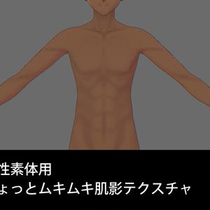 【VRoid】男性素体用ちょっとムキムキ肌影テクスチャ【無料orご支援版あり】