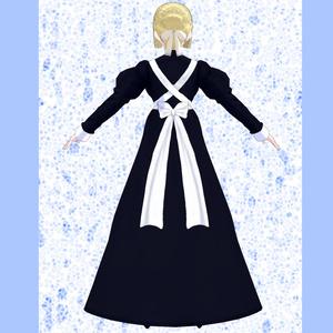 【VRoid】シンプルメイドドレス【女性用】