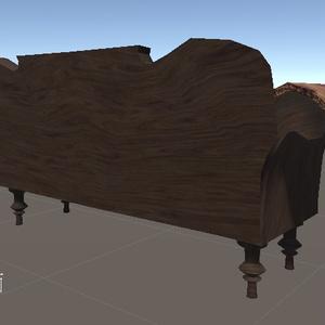 【3Dモデル】アンティークソファー【.objもあるよ】