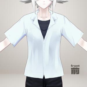 【VRoid】シンプル夏シャツ/Simple summer shirt【男女両用】