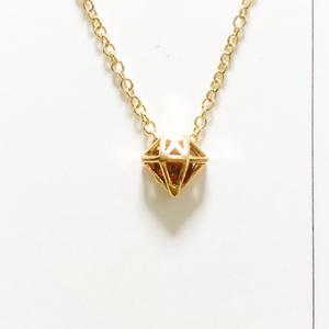 【翔月様専用】ダイヤ枠オーダーネックレス〜赤〜