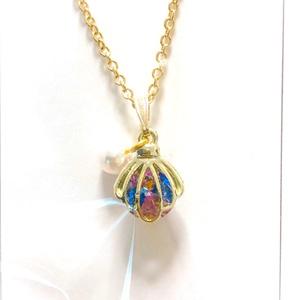 【りあ様専用】貝殻&宝石枠ネックレス