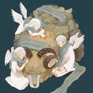 ポストカード 羊と天使