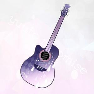 ギター型アクリルキーホルダー(ココロキズver)