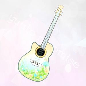 ギター型アクリルキーホルダー(朝の灯りver)