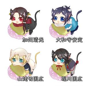 刀剣にゃんこ×桜餅