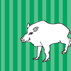 イノシシ 猪のイラスト