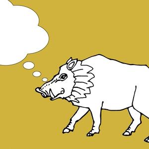 猪のイラスト(イノシシ)