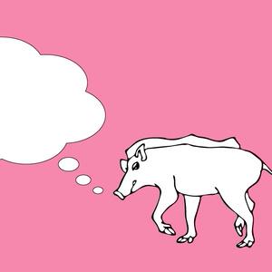 イノシシのイラスト猪