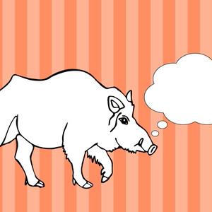 イノシシのイラスト(猪)