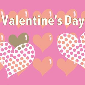 バレンタインのハートのピンクのかわいいカード