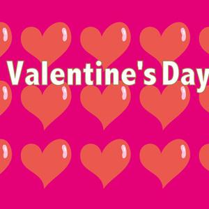 バレンタインのハートのカード
