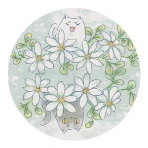 猫とお花のマスキングテープ