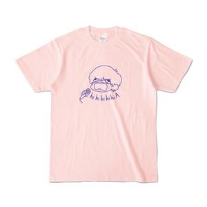 音割れみたいな顔しやがってTシャツ(ピンク・アイスグリーン)