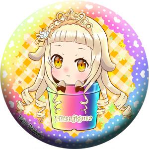 ぷちらび! ヒツジグサ 76mm 缶バッジ 花騎士 フラワーナイトガール