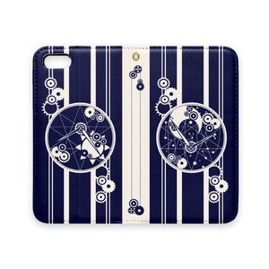 手帳型iPhoneケース-5~XR-/時巡り(ベルトなし)