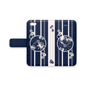 手帳型iPhoneケース-5~XS-/時巡り(ベルトあり)